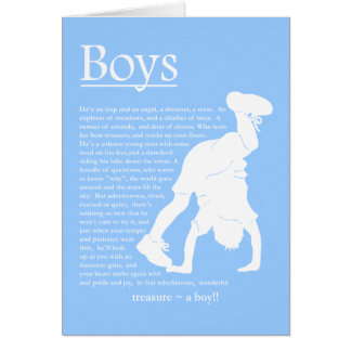Boys Poem Blank Card