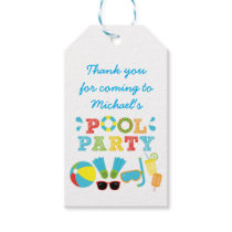 Boys Pool Birthday Party Favor Gift Tags
