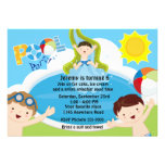 Boys Pool Party Birthday Cards