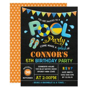 Swim Party Invitations Zazzle