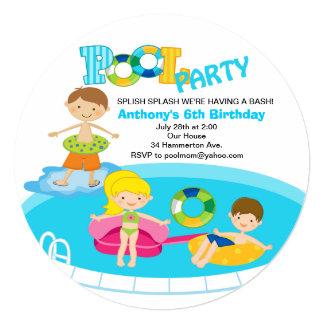 Boy's Pool Party Birthday Invitation