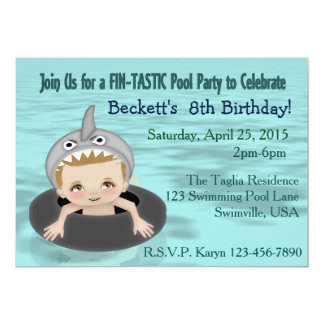 Boy's Pool Party Card