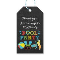 Boys Pool Party Chalkboard Favor Tags