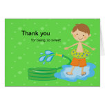 Boys Pool Party Thank You Card