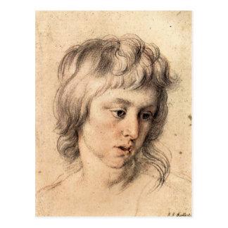 Boys portrait by Paul Rubens Postcard