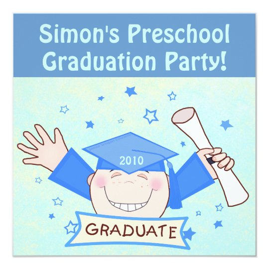 Boys Preschool / Kindergarten Graduation Party Card