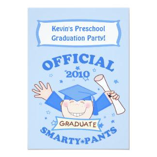 Boys Preschool / Kindergarten Graduation Party Announcements