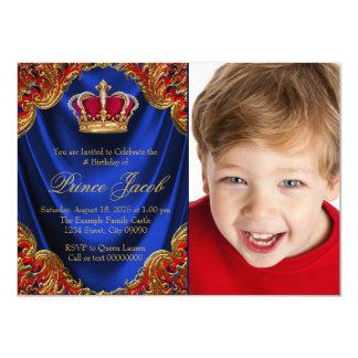 Boys Prince Birthday Party Card