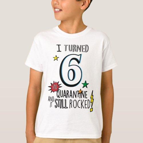 Boys Quarantine Birthday Shirt Kids Quarantine