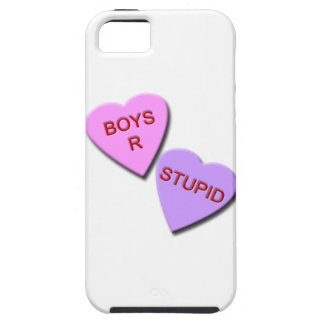 Boys R Stupid Candy Hearts iPhone 5 Cases