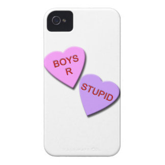 Boys R Stupid Candy Hearts iPhone 4 Case-Mate Cases
