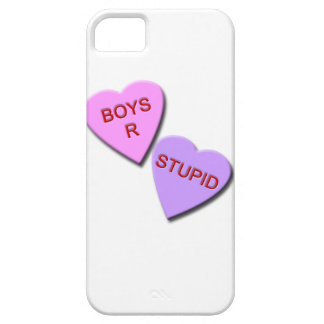 Boys R Stupid Candy Hearts iPhone 5 Cover