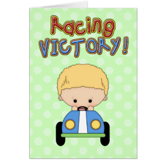 Boy's Race Car Birthday Greeting Card