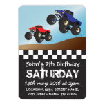 Boys Racing Monster Trucks Personalized Birthday 5x7 Paper Invitation Card