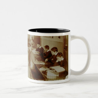 Boy's Recreation Room at the Deaf and Dumb Institu Two-Tone Coffee Mug