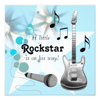 rock star baby shower invitations announcements zazzle. Black Bedroom Furniture Sets. Home Design Ideas