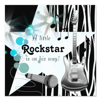 Boys Rockstar Baby Shower Announcements