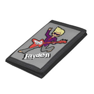 Boys Rockstar blonde name wallet