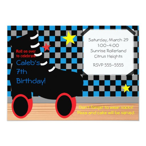 Roller Disco Invitations with nice invitation template