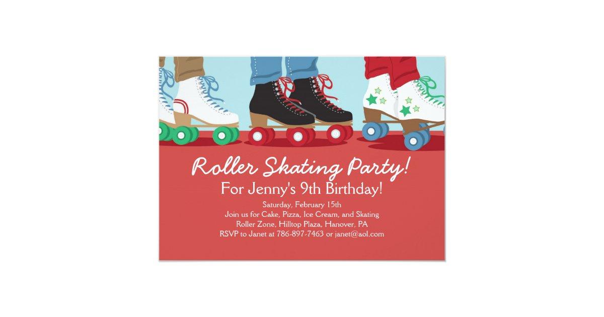 Boys Roller Skating Party Invitations | Zazzle.com
