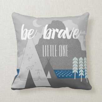 Boy's Room Be Brave Little One Pillows