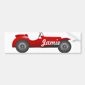 Boys Room Classic Car Gifts Sweet red Retro Car Bumper Sticker