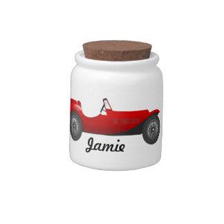 Boys Room Classic Car Gifts Sweet red Retro Car Candy Jars