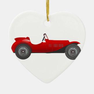 Boys Room Classic Car Gifts Sweet red Retro Car Ceramic Ornament