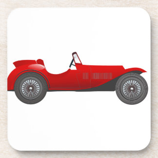 Boys Room Classic Car Gifts Sweet red Retro Car Drink Coaster