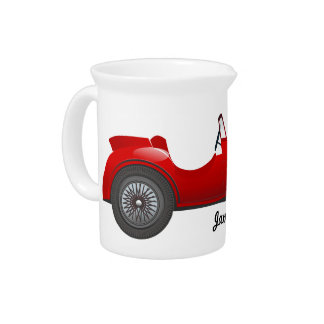 Boys Room Classic Car Gifts Sweet red Retro Car Drink Pitcher