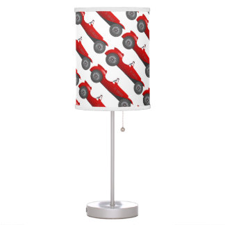Boys Room Classic Car Gifts Sweet red Retro Car Table Lamps