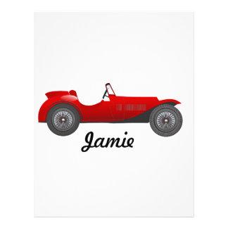 Boys Room Classic Car Gifts Sweet red Retro Car Letterhead