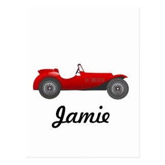 Boys Room Classic Car Gifts Sweet red Retro Car Postcard