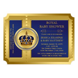 Boys Royal Baby Shower 5x7 Paper Invitation Card