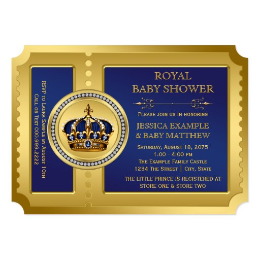 boys royal baby shower 5x7 paper invitation card zazzle