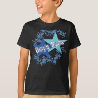 Boys Rule Blue Stars Kids T Shirt