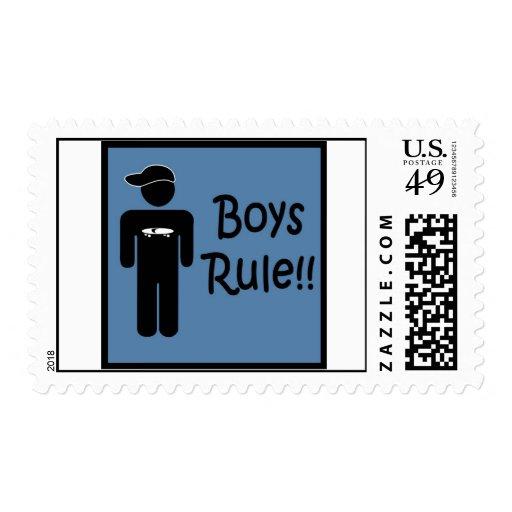 Boys Rule Stamp