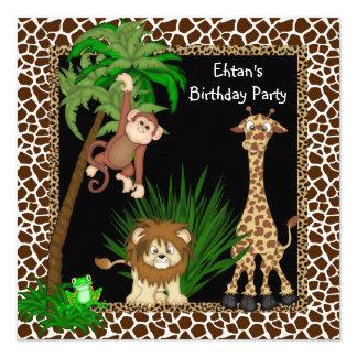 Boys Safari Birthday Party Custom Announcements