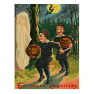 Boys Scared By Ghost Postcard