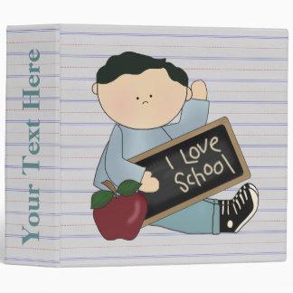 Boys School Notebook 3 Ring Binder