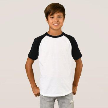 Beach Themed Boys' Short Sleeve Raglan T-Shirt