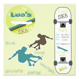 Boys Skateboard Party Invitation