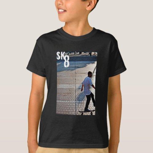 Boys Skateboarding t_shirt