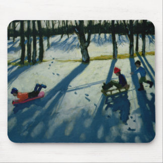 Boys Sledging Allestree Park Derby Mouse Pad