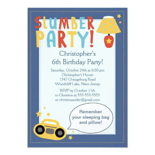 Sleepover Birthday Party Invitations was best invitations template