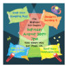 "Boy's Sleepover Birthday Party Invitation 5 25"" Square Invitation Card"