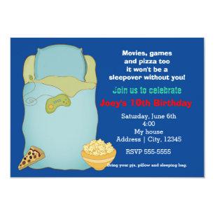 sleepover invitations for boys