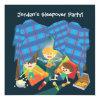 "Boy's Sleepover Slumber Party Invitation 5 25"" Square Invitation Card"