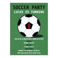 Soccer Birthday Party Invitations Announcements Zazzle