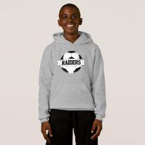 Boys' Soccer Custom Team & Player Name & Number Hoodie